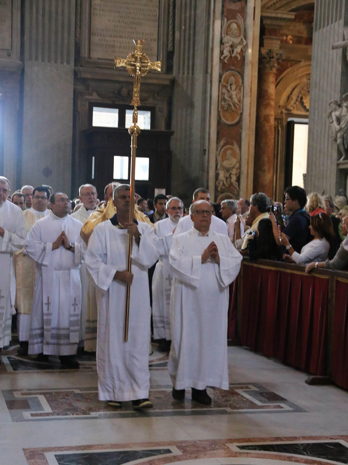 Eine Pilgergruppe