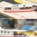 Direkt an der Anlagenkante bei der Einfahrt zum Fiordo di Furore wird dieses Glasbodenboot liegen und lädt die Touristen zu einer ganz besonderen Tour ein.